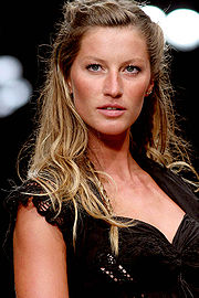 The Brazilian model Gisele Bündchen is one of the most famous faces seen on fashion magazine covers.