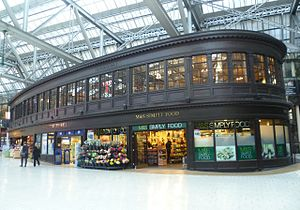 Glasgow Central station - The Edwardian-era Booking Office and train information building
