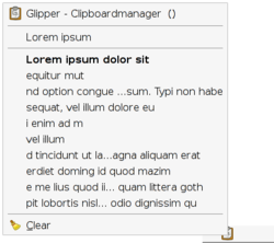 A screenshot of Glipper 0.95.1