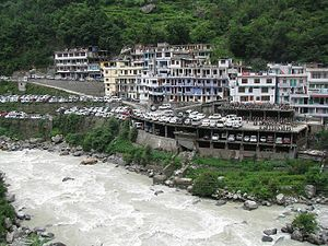 Govindghat - Govindghat, as seen after crossing Alaknanda River