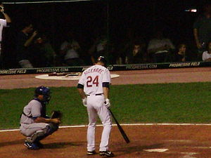 English: Cleveland Indians player Grady Sizemo...