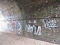 Graffiti in the bridge - geograph.org.uk - 1564624.jpg