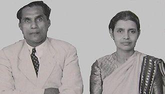 J. C. Daniel - Dr.J.C.Daniel with his wife Janet