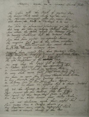 "Elegy Written in a Country Churchyard - Holograph manuscript of Gray's ""Stanzas Wrote in a Country Church-Yard"""