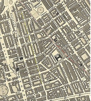Great Titchfield Street - Great Titchfield Street was also named Cirencester Place on its northern stretch in Greenwoods' map of 1827