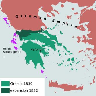 First Hellenic Republic - Image: Greece 1830EN