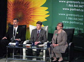 Green Party of Canada leadership election, 2006 - The candidates at the June 21, 2006, leadership debate in Calgary.