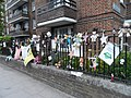 Grenfell Tower fire memorials in May 2018 02.jpg