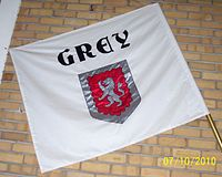 Grey House flag at Fairbairn College.jpg