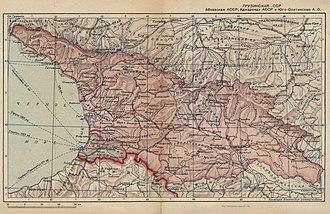 Georgian Soviet Socialist Republic - Image: Gruzinskaja SSR 1939
