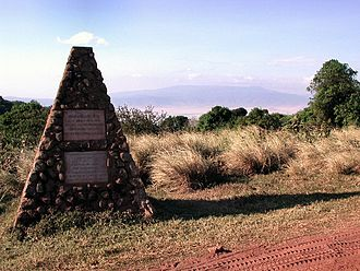Bernhard Grzimek - The Tomb of Michael and Bernhard Grzimek on the top of the Ngorongoro Crater, Tanzania