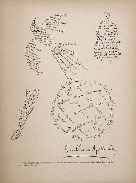 A Calligramme by Guillaume Apollinaire[15] - Guillaume Apollinaire