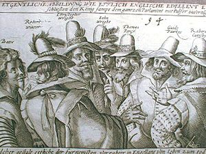 Treason - A 17th-century illustration of Guy Fawkes. Fawkes tried to assassinate James I of England. He failed and was convicted of treason and sentenced to be hanged, drawn and quartered.