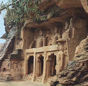Kashtha Sangha -  Rock-carved colossal Jain images in Gwalior consecrated by Bhattarakas of Kashtha Sangh