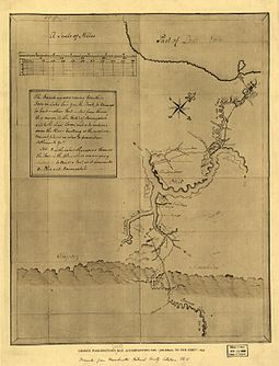 The Allegheny River is named as Ohio on a sketch by George Washington. Gwash map01.jpg