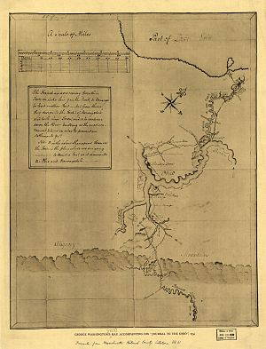 Allegheny River - The Allegheny River is named as Ohio on a sketch by George Washington.