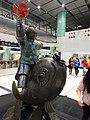 HK Lok Ma Chau MTR Station 落馬洲站 Bauhinia Rider sculpture Chinese Scuptor 蔣朔 Jiang Shuo Bronze statue March 2016 Concourse Level 3 DSC (7).JPG