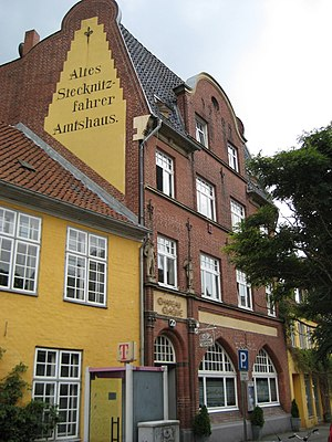 Stecknitz Canal - The Kringelhöge, the old Stecknitz drivers' guild-house in Lübeck