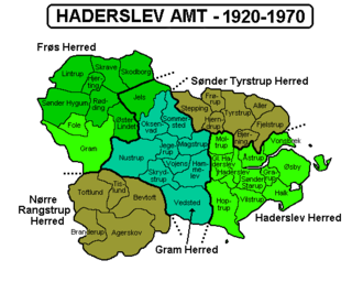 Haderslev County - Haderslev County. The entire province became part of South Jutland County in 1970.