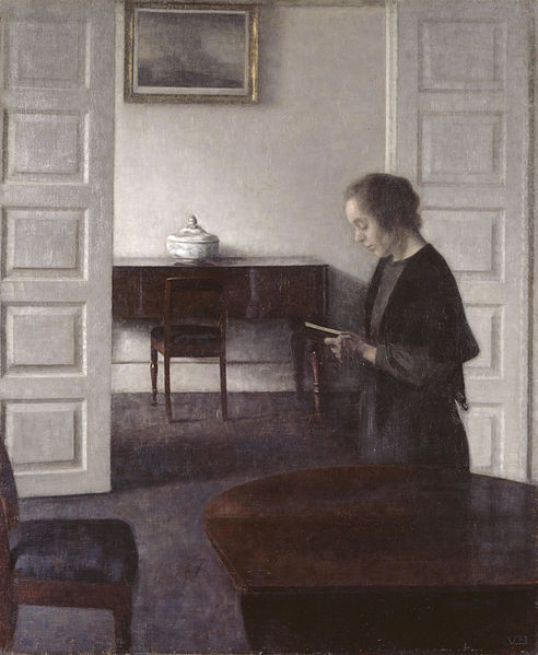 File:Hammershoi - Interior with a Reading Lady.jpg