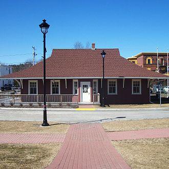 Hampton, New Brunswick - Hampton station is now a tourist bureau.