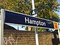 Hampton station signage 2011.JPG