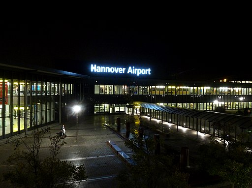 Hannover Airport - night photograph