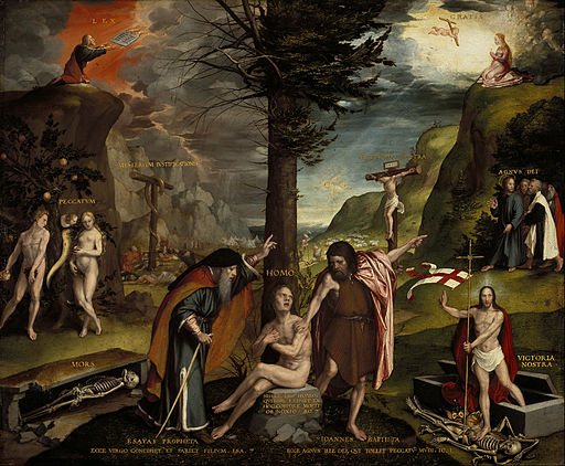 Hans Holbein the Younger - An Allegory of the Old and New Testaments - Google Art Project