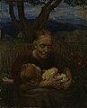 Hans Thoma - Großmutter mit Kind in einem Garten (1906).jpg