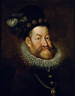 魯道夫二世(Rudolf II.,1552年7月18日-1612年1月20日,生於維也納,卒於布拉格)是哈布斯堡王朝的神聖羅馬帝國皇帝(1576年—1612年在位)。他也是匈牙利國王(稱「魯道夫」,1576年—1608年在位)、波希米亞國王(稱「魯道夫二世」,1576年—1611年在位)和奧地利大公(稱「魯道夫五世」,1576年—1608年)。(維基百科)