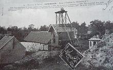 Carte postale ancienne montrant la fosse la glaneuse n 1 - Bassin recreatif ancienne lorette calais ...