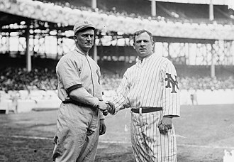 Harry Wolverton - Wolverton (left) with John McGraw at the Polo Grounds in 1912.