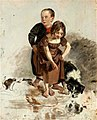 Harvey - a-boy-and-a-girl-with-a-collie-dog-standing-by-a-stream-study-for-the-covenanters-baptism-1830.jpg