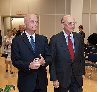 R. James Woolsey Jr. - Former Directors of the CIA James Woolsey and Michael Hayden in 2012