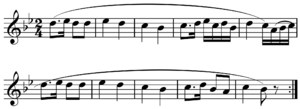 Phrase (music theory) - Image: Haydn Feldpartita period