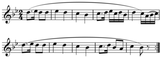 Phrase (music theory) - Image: Haydn Feldpartita period