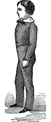 Figure of a boy with an upright posture