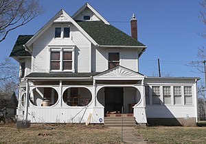 National Register of Historic Places listings in Pawnee County, Nebraska - Image: Hempstead house (Pawnee City) from E 1