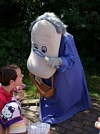 Hemulen in Moomin World theme park, Naantali, Finland.