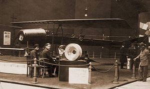 Henri Coandă - Coandă-1910 airplane with the turbo-propulseur on separate display