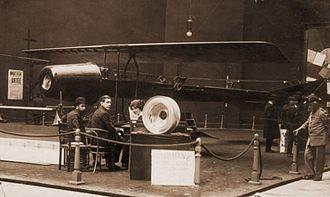 Henri Coandă - Coandă-1910 airplane with the turbo-propulseur on separate display