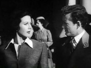 Cropped screenshot of Hedy Lamarr and Robert W...
