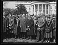 Herbert Hoover and group outside White House, Washington, D.C. LCCN2016890649.jpg