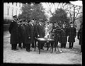 Herbert Hoover and military group outside White House, Washington, D.C. LCCN2016889753.jpg
