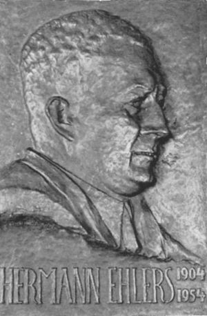 President of the Bundestag - Image: Hermann Ehlers Relief