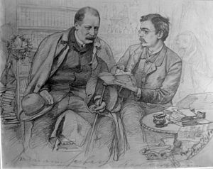 Ernst von Wolzogen - The writers Hermann Heiberg and Ernst von Wolzogen in Berlin