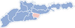 Location of Hercas rajons