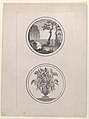 Hidden silhouette of Napoleon visiting his tomb; vase of flowers Met DP886297.jpg