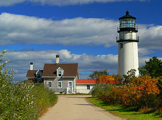 Highland Light lighthouse at Cape Cod, in North Truro, Massachusetts, United States
