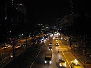 Hill Street, Singapore - Hill Street at night.